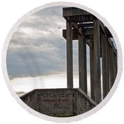 Round Beach Towel featuring the photograph Pioneer Sand And Gravel Pit by Tikvah's Hope