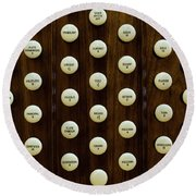 Pipe Organ Console, The Temple Round Beach Towel