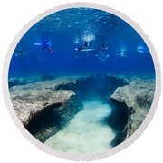Pipeline's Hungry Reef Round Beach Towel