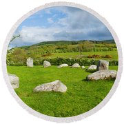 Pipers Stone Bronze Age Stone Circle 14 Round Beach Towel