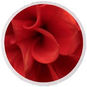 Scarlet Pipes Round Beach Towel