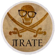 Pirate Math Nerd Humor Poster Art Round Beach Towel