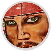Round Beach Towel featuring the photograph Pirate Seduction by Toni Hopper