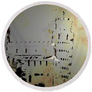 Round Beach Towel featuring the digital art Pisa Italy 1 by Brian Reaves