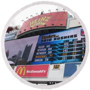 Round Beach Towel featuring the photograph Pittsburgh Ketchup  by Michael Krek