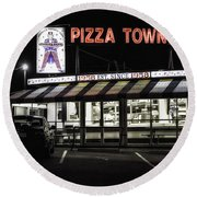 Pizza Town Round Beach Towel