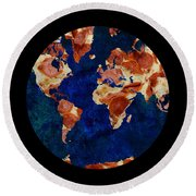 Pizza World Round Beach Towel