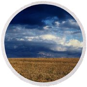 Round Beach Towel featuring the photograph Plain Sky by Rodney Lee Williams
