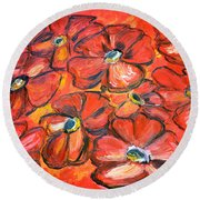Plaisir Rouge Round Beach Towel