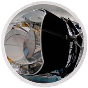 Round Beach Towel featuring the photograph Planck Space Observatory Before Launch by Science Source