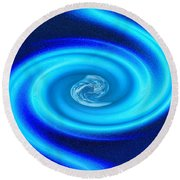 Planet At The Center Of The Galaxy Round Beach Towel