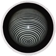 Round Beach Towel featuring the photograph Planet Zebra by Douglas Fromm