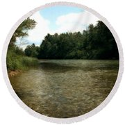 Platte River Round Beach Towel
