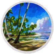 Playa Bonita Round Beach Towel