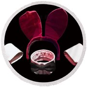 Playboy Bunny Costume Accessories Round Beach Towel