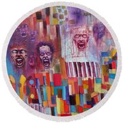 Playground Of The Undead Round Beach Towel