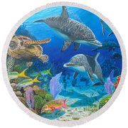 Playground Re004 Round Beach Towel