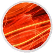 Playing With Fire 15 Round Beach Towel