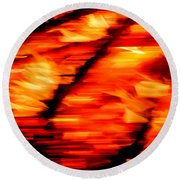 Playing With Fire 2 Round Beach Towel