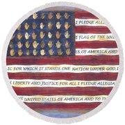 Pledge Flag Round Beach Towel