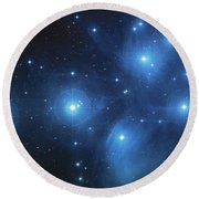 Pleiades - Star System Round Beach Towel by Absinthe Art By Michelle LeAnn Scott