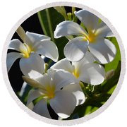 Round Beach Towel featuring the photograph Plumeria's IIi by Robert Meanor