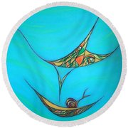 Pneuma Round Beach Towel by Robert Nickologianis