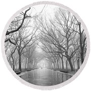 New York City - Poets Walk Central Park Round Beach Towel