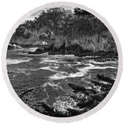 Round Beach Towel featuring the photograph Point Lobo  by Ron White
