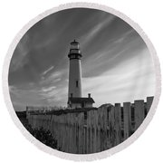 Point Pigeon Lighthouse Round Beach Towel by Jonathan Nguyen
