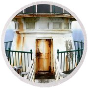 Point Reyes Historic Lighthouse Round Beach Towel
