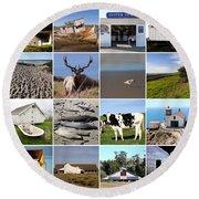 Point Reyes National Seashore 20150102 Round Beach Towel