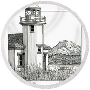 Point Robinson Light Round Beach Towel