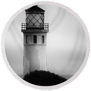 Pointe Vincente Lighthouse Round Beach Towel