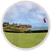 Poipu Bay #16 Round Beach Towel