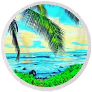 Poipu Sunrise Round Beach Towel