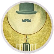 Poirot Round Beach Towel