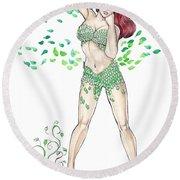 Poison Ivy Round Beach Towel