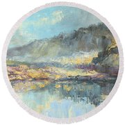 Poland - Tatry Mountains Round Beach Towel