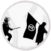 Police And Granny Round Beach Towel