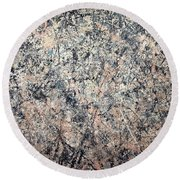 Pollock's Number 1 -- 1950 -- Lavender Mist Round Beach Towel by Cora Wandel