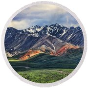Polychrome Round Beach Towel