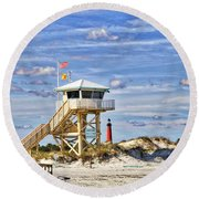 Ponce Inlet Scenic Round Beach Towel