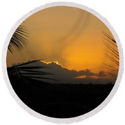 Round Beach Towel featuring the photograph Ponce Sunrise by Daniel Sheldon