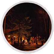 Ponderosa Christmas '14 Round Beach Towel