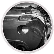 Pontiac Solstice Rear View Round Beach Towel