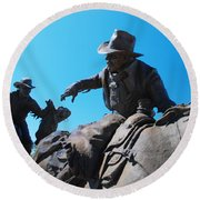 Pony Express Round Beach Towel