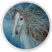 Pony Round Beach Towel