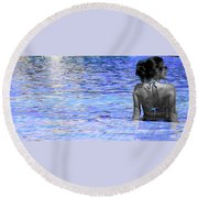 Round Beach Towel featuring the photograph Pool by J Anthony