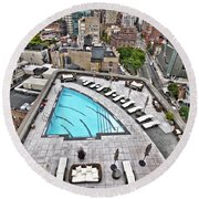 Pool With A View Round Beach Towel